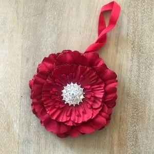 Dark red Tieks flower